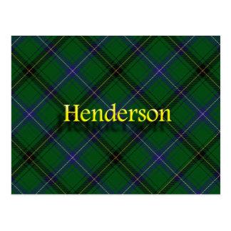 Scottish Clan Henderson Tartan Postcard