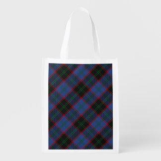 Scottish Clan Home Hume Family Tartan Reusable Grocery Bag