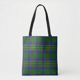 Scottish Clan Hunter Tartan Plaid Tote Bag