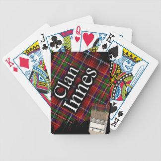 Scottish Clan Innes Tartan Paint Brush Bicycle Playing Cards