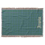 Scottish Clan Irwin Tartan with name 2 Throw Blanket