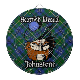 Scottish Clan Johnstone Johnston Tartan Dartboard