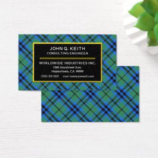 Scottish Clan Keith Tartan Plaid Business Card