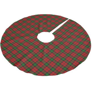 Scottish Clan Kerr Red Green Tartan Brushed Polyester Tree Skirt