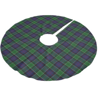 Scottish Clan Leslie Blue Green Tartan Brushed Polyester Tree Skirt