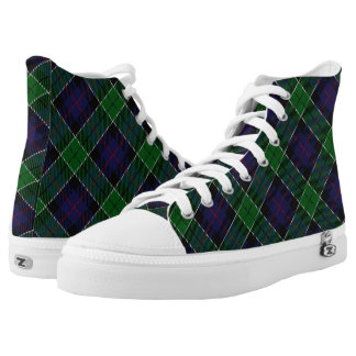 Scottish Clan Leslie Hunting Tartan High-Top Sneakers