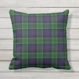 Scottish Clan Leslie Hunting Tartan Throw Pillow