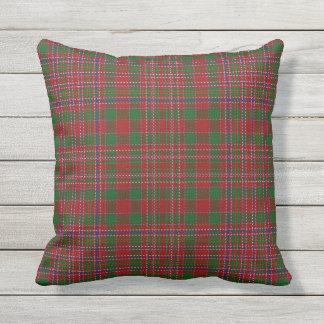 Scottish Clan MacAlister Tartan Outdoor Pillow