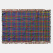 Scottish Clan MacBeth Tartan Plaid Throw