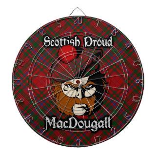 Scottish Clan MacDougall Tartan Dartboard
