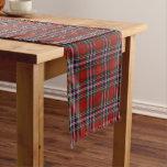 Scottish Clan MacFarlane McFarland Tartan Plaid Short Table Runner