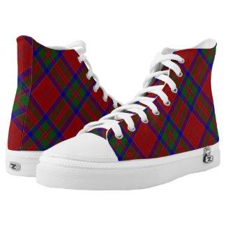 Scottish Clan MacGillivray Tartan Printed Shoes