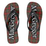 Scottish Clan MacGregor Tartan Flop Flops Flip Flops