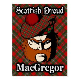 Scottish Clan MacGregor Tartan Postcard