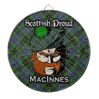 Scottish Clan MacInnes Tartan Dartboard