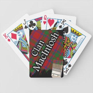 Scottish Clan MacIntosh Tartan Paint Brush Bicycle Playing Cards