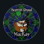 """Scottish Clan MacKay Tartan Dartboard<br><div class=""""desc"""">Celebrate the great Scottish Clan MacKay with this awesome design.</div>"""