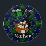 "Scottish Clan MacKay Tartan Dartboard<br><div class=""desc"">Celebrate the great Scottish Clan MacKay with this awesome design.</div>"