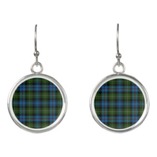 Scottish Clan MacKenzie McKenzie Tartan Plaid Earrings