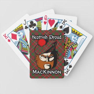 Scottish Clan MacKinnon Tartan Deck Bicycle Playing Cards