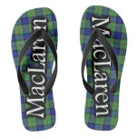 Scottish Clan MacLaren Tartan Flop Flops Flip Flops