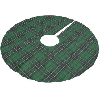 Scottish Clan MacLean Green Black Hunting Tartan Brushed Polyester Tree Skirt