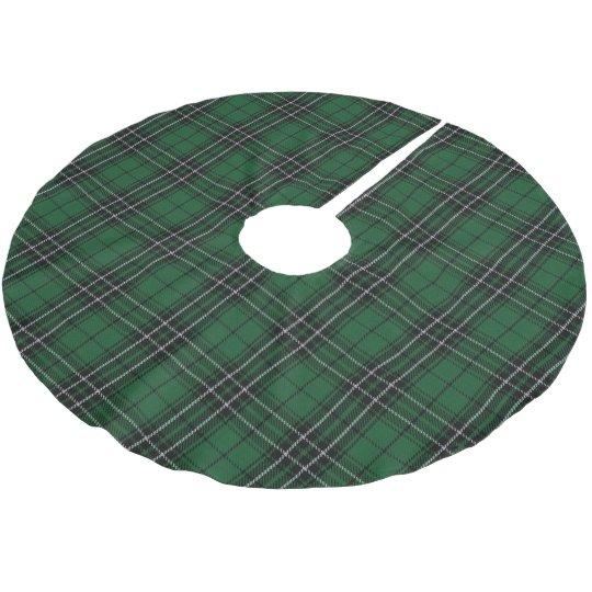 1fb158921 Scottish Clan MacLean Green Black Hunting Tartan Brushed Polyester Tree  Skirt