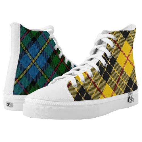 Scottish Clan MacLeod Classic Two in One Tartan High-Top Sneakers