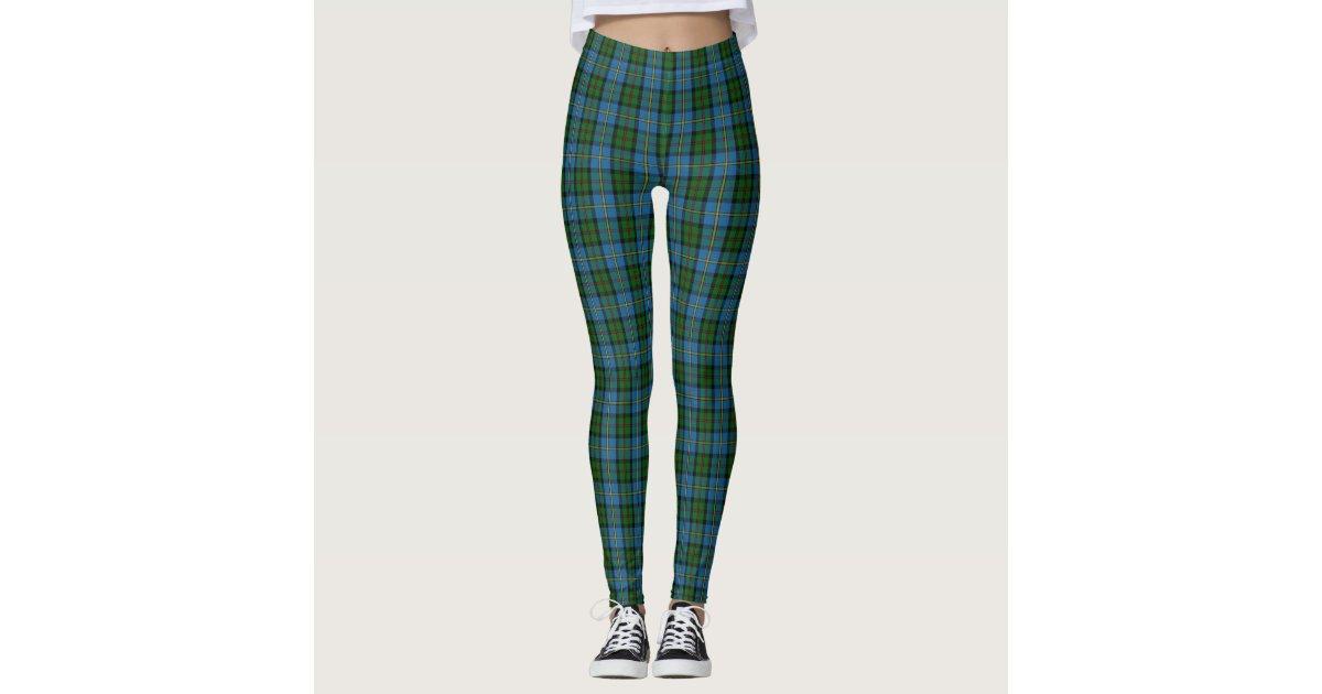 Scottish Clan MacLeod of Harris Blue Green Tartan Leggings | Zazzle