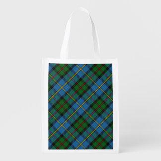 Scottish Clan MacLeod of Harris Family Tartan Reusable Grocery Bag
