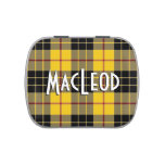 Scottish Clan MacLeod of Lewis Tartan Jelly Belly Candy Tin