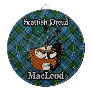 Scottish Clan MacLeod Tartan Dartboard