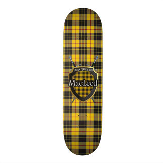 Scottish Clan MacLeod Tartan Shield Skateboard Deck
