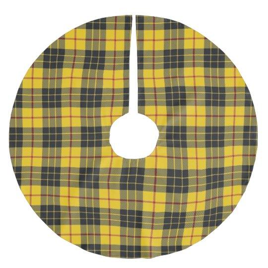 Scottish Clan MacLeod Yellow Black Tartan Brushed Polyester Tree Skirt
