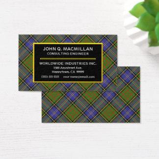 Scottish Clan MacMillan Hunting Tartan Plaid Business Card
