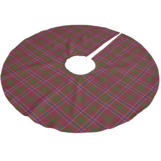 Scottish Clan MacRae Red Tartan Brushed Polyester Tree Skirt