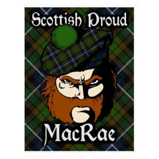 Scottish Clan MacRae Tartan Postcard