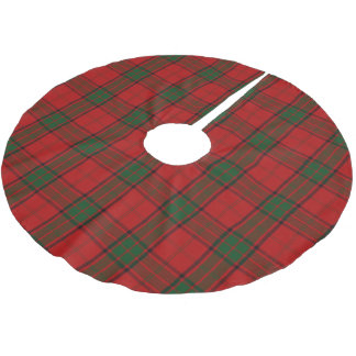 Scottish Clan Maxwell Red Green Tartan Brushed Polyester Tree Skirt