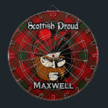 "Scottish Clan Maxwell Tartan Dartboard<br><div class=""desc"">Celebrate the great Scottish Clan Maxwell with this awesome design.</div>"