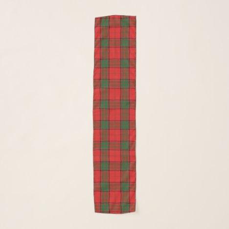 Scottish Clan Maxwell Tartan Plaid Scarf