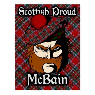 Scottish Clan McBain MacBain Tartan Postcard
