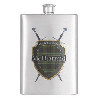 Scottish Clan McDiarmid Tartan Shield and Swords Flask