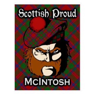 Scottish Clan McIntosh Tartan Postcard
