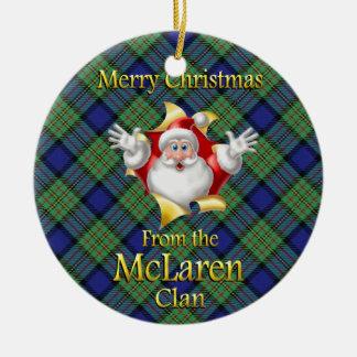 Scottish Clan McLaren Christmas Ornament