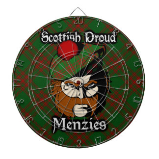 Scottish Clan Menzies Tartan Dartboard