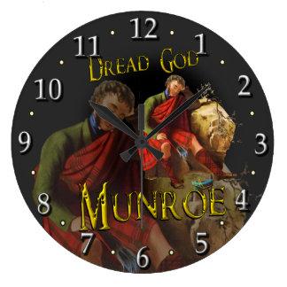 Scottish Clan Munroe Munro Tartan Large Clock