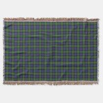Scottish Clan Murray Tartan Throw Blanket