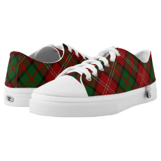 Scottish Clan Nisbet Nesbitt Tartan Low-Top Sneakers