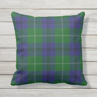 Scottish Clan Oliphant Tartan Outdoor Pillow