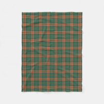 Scottish Clan Pollock Classic Tartan Fleece Blanket